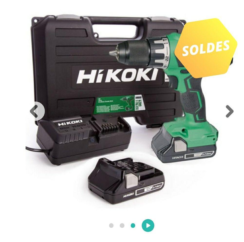 Pack perceuse-visseuse à percussion Hikoki DV18DGAL WFZ (18V) + 2 batteries 2.5 Ah + coffret de rangement