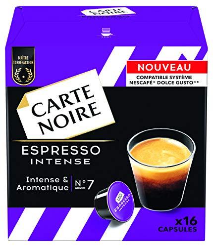 Lot de 6 paquets de 16 capsules Dolce Gusto délicat et équilibré Carte Noire Café Espresso (96 capsules)