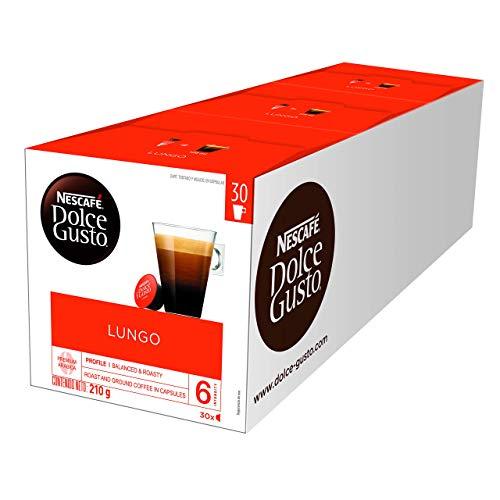 Lot de 3 boites de capsules de café Nescafé Dolce Gusto Lungo - 90 capsules (3 x 30)