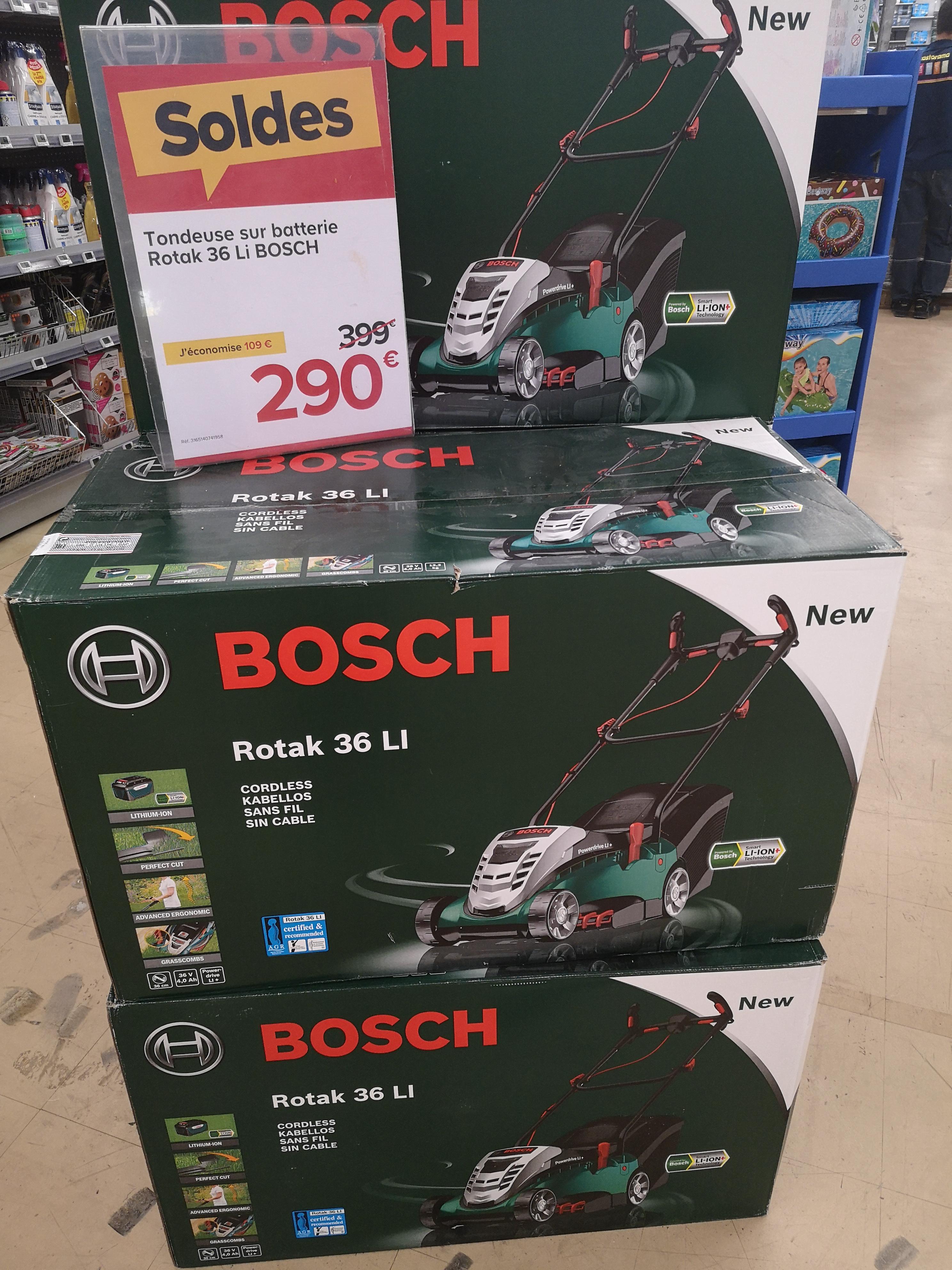 Tondeuse électrique sans-fil Bosch Rotak 36Li (36 V, 4 Ah) - Vélizy-Villacoublay (78)
