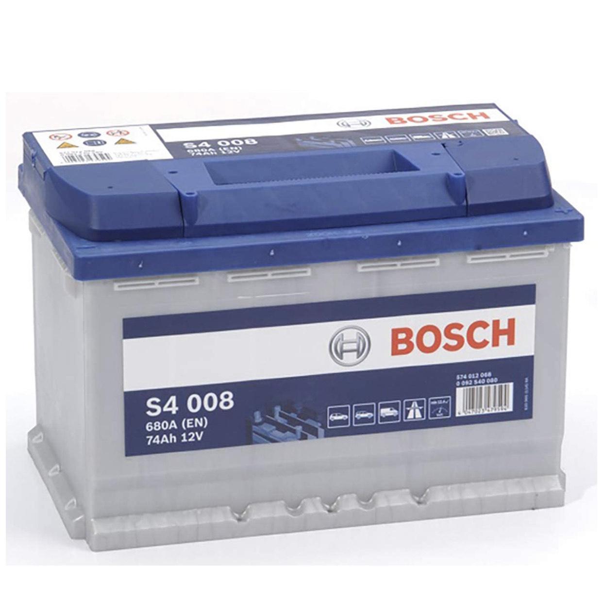 Bosch Batterie de Voiture Bosch S4008 - 74A / h-680A