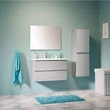 Ensemble meuble vasque Trudy + vasque + miroir - 80 cm