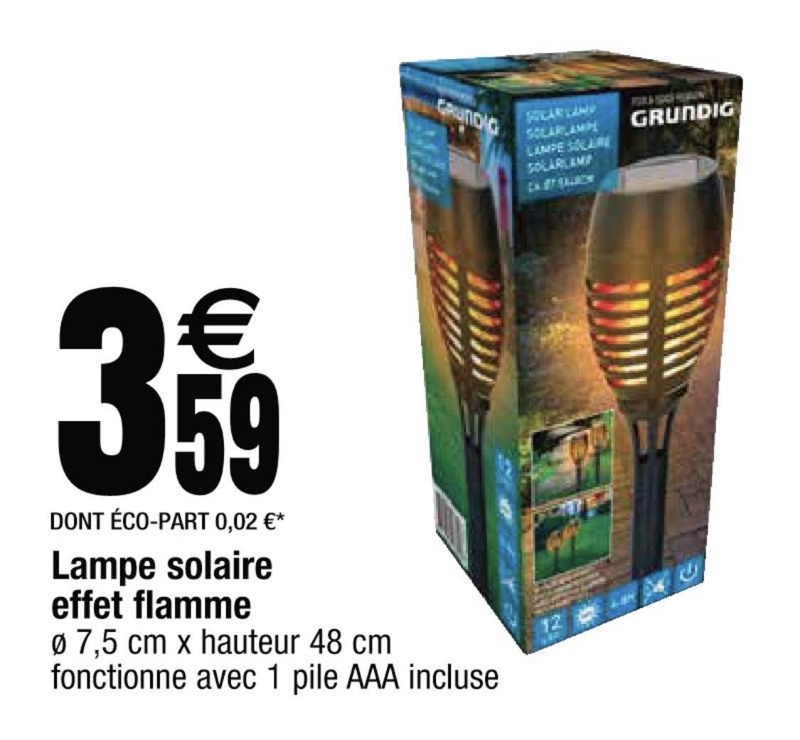 Torche solaire effet flamme Grundig