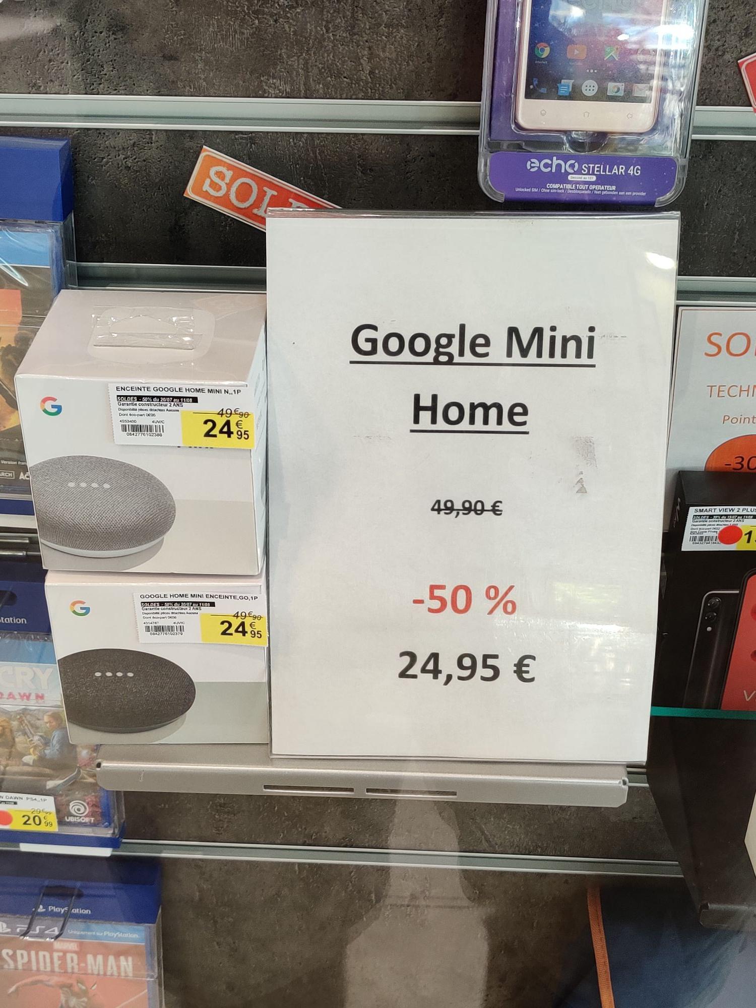 Assistant vocal Google Home Mini (coloris Charbon ou Galet) - Tarbes (65)