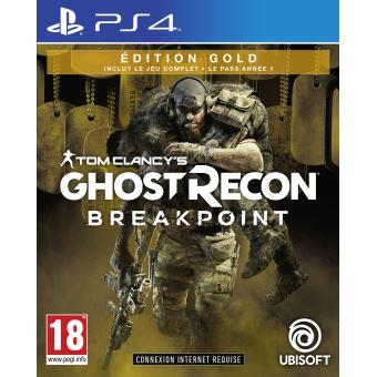 Tom Clancy's Ghost Recon Breakpoint - Édition Gold PS4 + un bracelet de survie offert et un porte clé en ajoutant au panier.