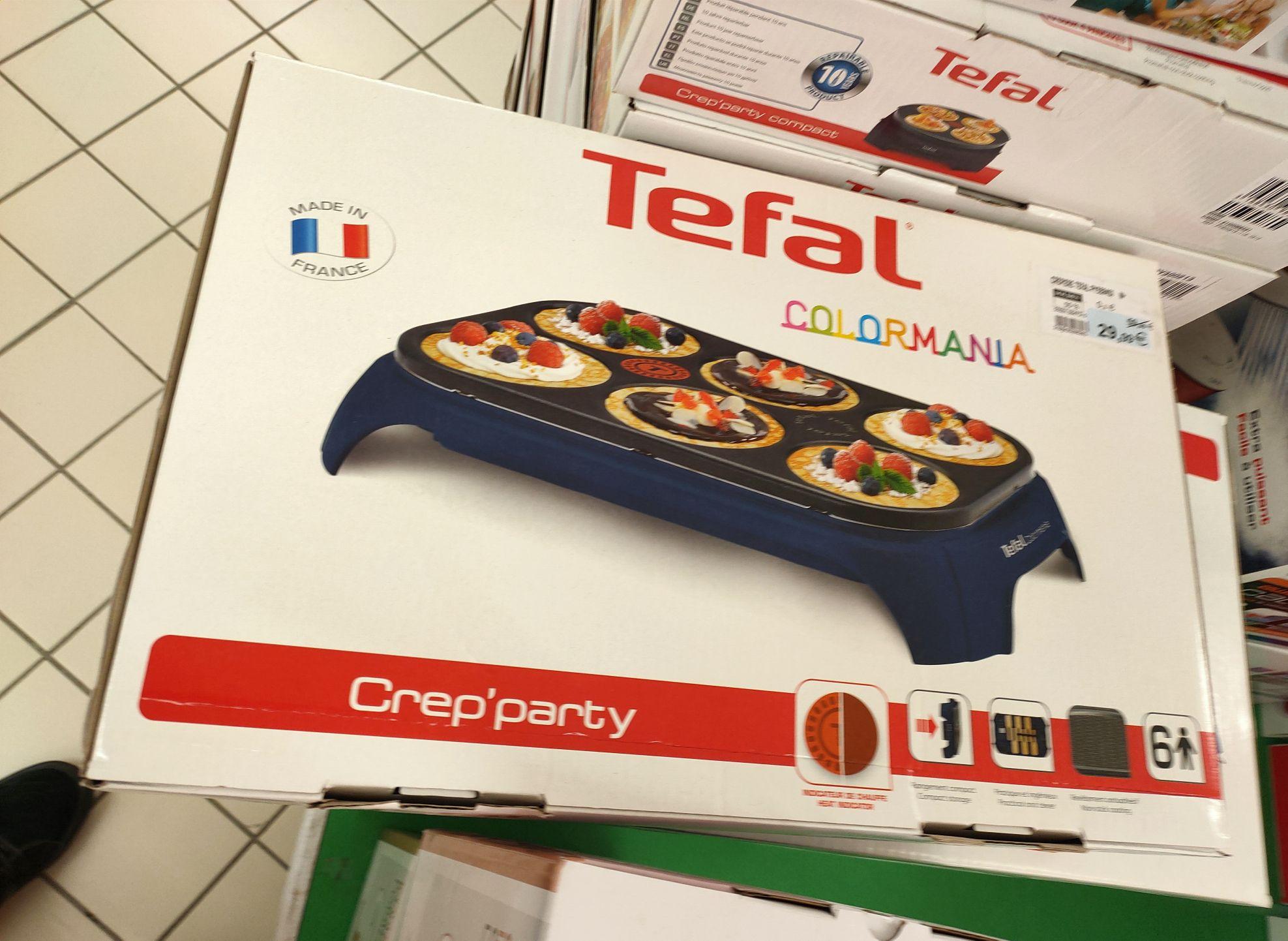 Crêpiere Tefal Crep'party colormania - Super U Corgnac (87)