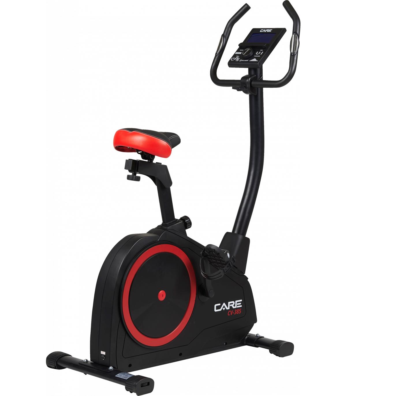 Vélo d'appartement Care CV-385 avec 10kg d'inertie, 24 programmes (fitnessboutique.fr)