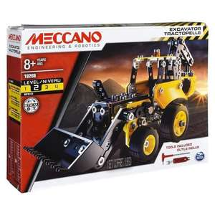 Jeu de construction Meccano Tractopelle de chantier à construire