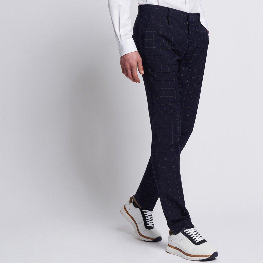 50% de réduction sur tout le site - Ex : Pantalon de costume carreaux filetés