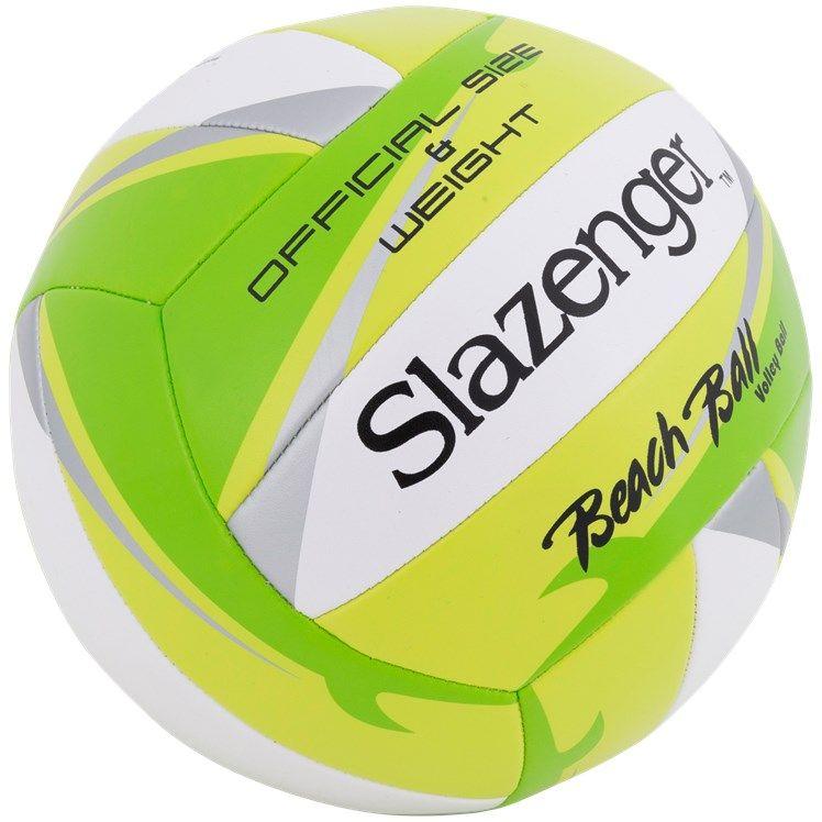 Ballon de beach-volleyball Slazenger - 23 cm (Bleu, Vert, Rose ou Jaune)