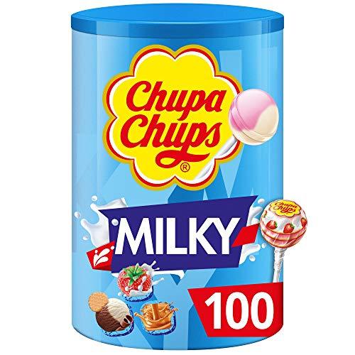 100 Sucettes lait Chupa Chups - 1,2 kg