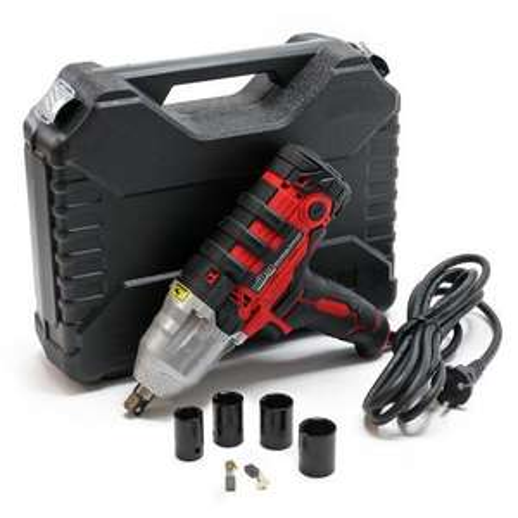 Clé à chocs électrique WilTec - 450W avec 4 écrous de clé à chocs