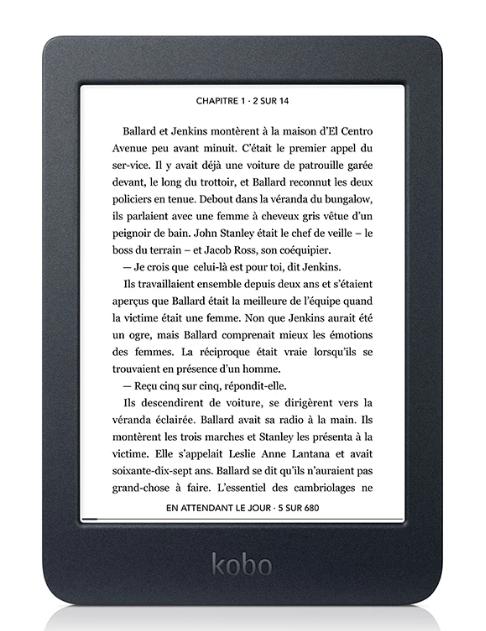 Lecteur eBook Kobo Nia - 8 Go, Wifi (+25€ en SuperPoints - 84.99€ avec RAKUTEN15)