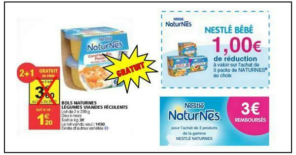 Bols Nestlé Naturnes Légumes Viandes Féculents gratuits chez Auchan (BDR + Remboursement via Quoty)