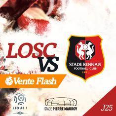 Place pour le match Lille - Rennes en catégorie 1