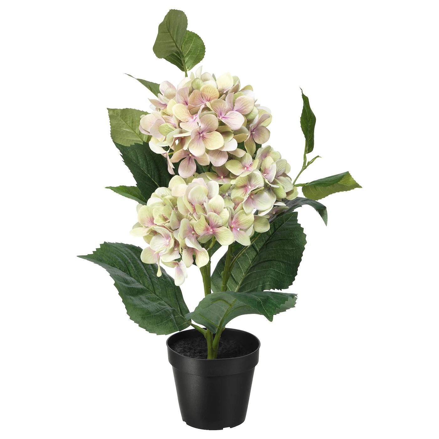 Plante artificielle Fejka - Hydrangea vert, 12 cm