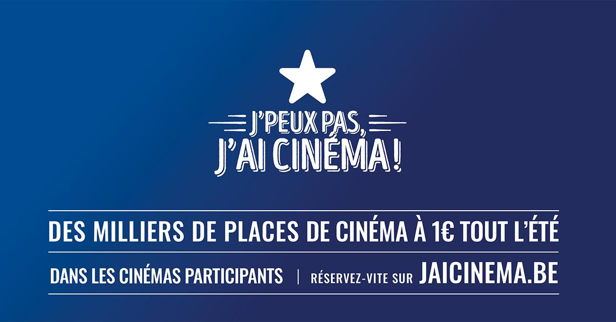 Place de cinéma à 1€ sur une sélection de films (Frontaliers Belgique) - JaiCinema.be