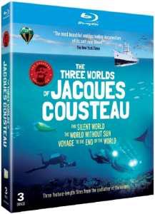 3 films de Jacques Cousteau en BluRay