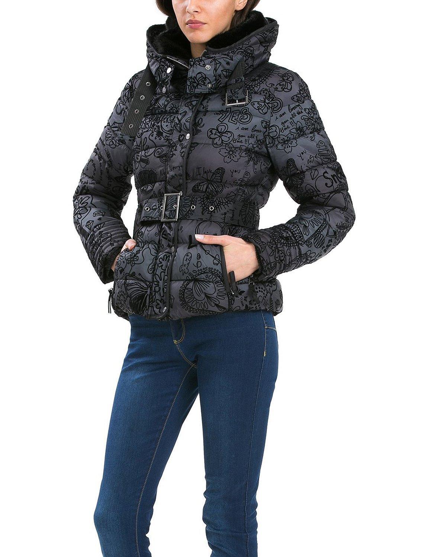 Caban Desigual Alena - Femme noir manches longues