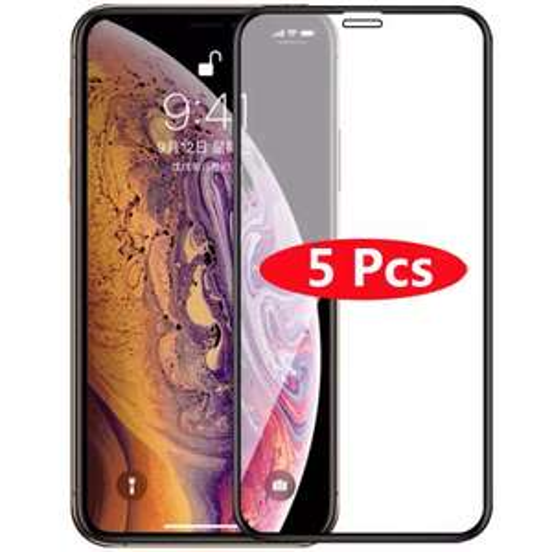 Lot de 5 Protections Wzh en Verre Trempé pour Smartphones Apple iPhone - Modèles au choix