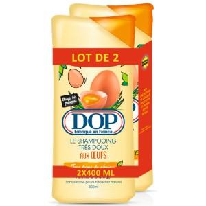 Lot de 2 Shampooings Dop (Variétés au choix) - 2 x 400ml (Via 2,16€ sur Carte de Fidélité)