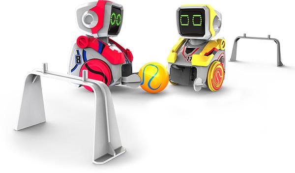Pack de 2 robots interactifs footballeurs Silverlit Kickabot Twin