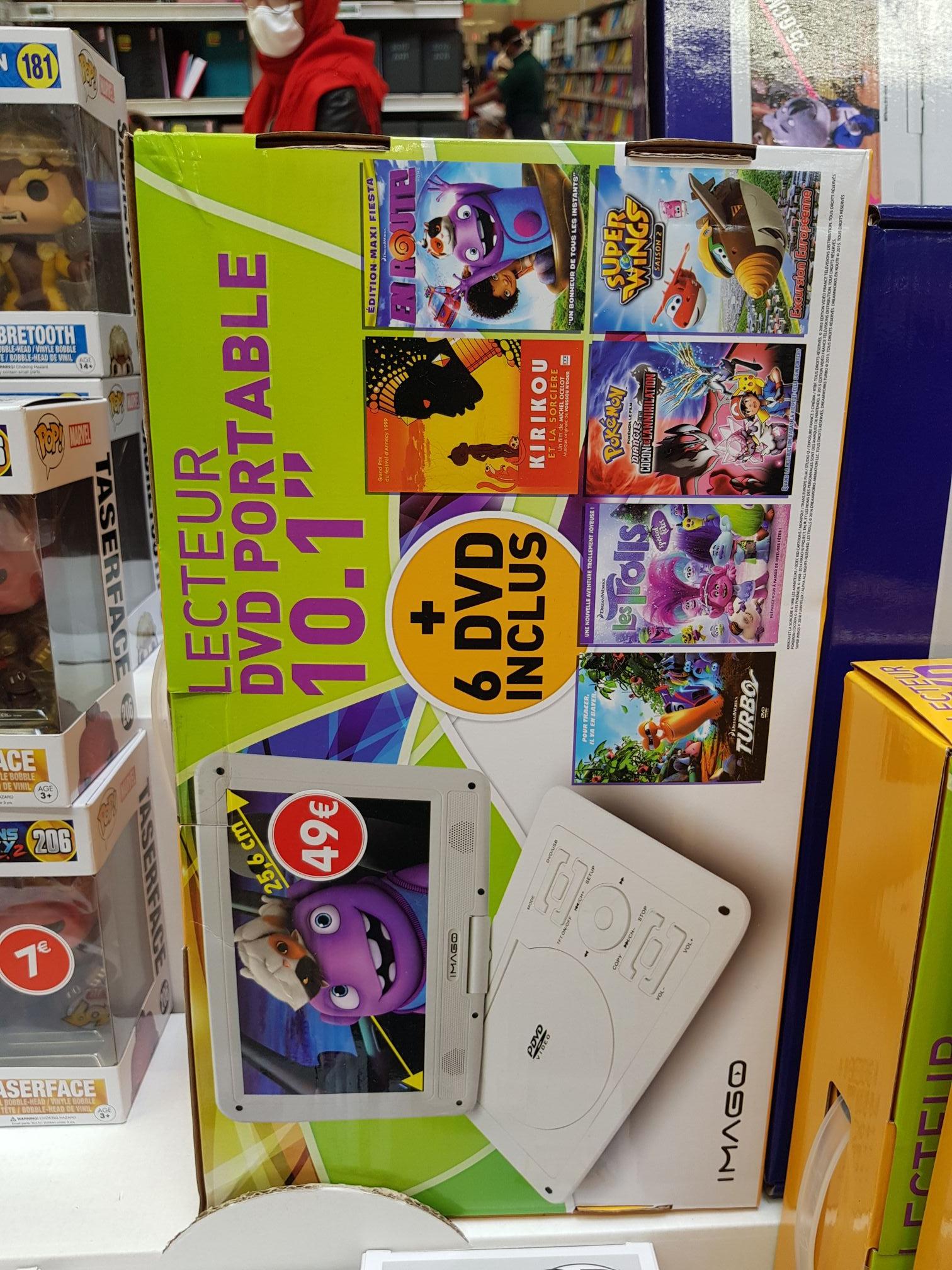 """Lecteur DVD Portable 10.1"""" avec 6 DVD - Brest (29)"""