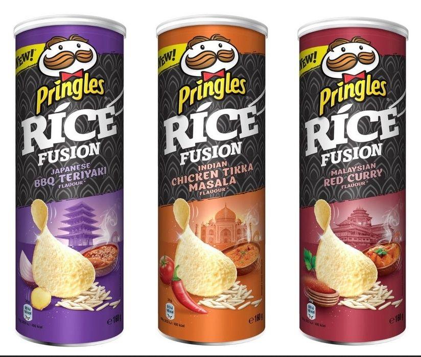 Lot de 3 boîtes de Pringles Rice Fusion (différentes variétés) - Via shopmium, Ile de France