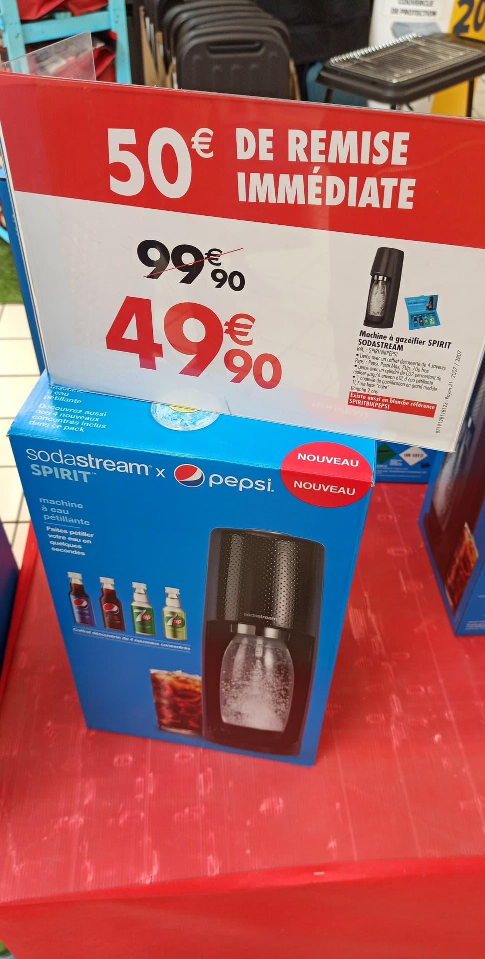 Machine à gazéifier SodaStream Spirit x Pepsi - Carrefour Nimes Sud (30)