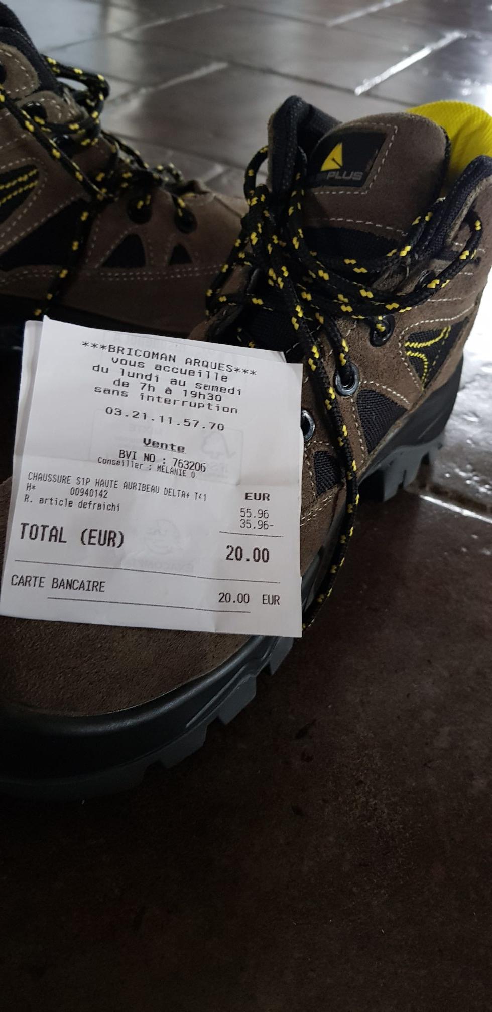 Chaussure de sécurité Auribeau Delta - Bricoman de arques (62)
