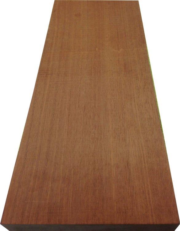 Planche de bois Mukulungu - L.215 x l.14.5 cm x Ep.21 mm (Mâcon - 71)