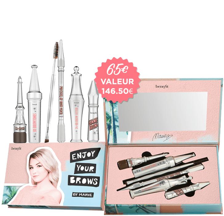 Sélection d'articles en promotion - Ex : Kit de maquillage palette sourcils Enjoy your Brows