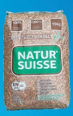 Lot de 70 sachets de 15 kg de granulés de bois Natur Suisse (Via 27.93€ sur la Carte de Fidélité)