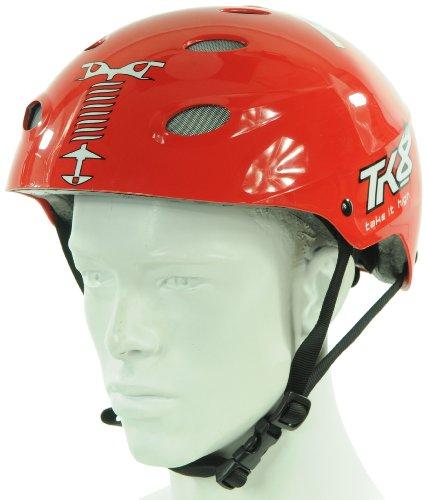 Casque vélo TK8 - Molette réglable, Rouge (Taille S & M) ou Blanc (Taille L)