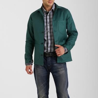 Lot de 2 vestes de travail verte en coton (taille 36/38 et 48/50)