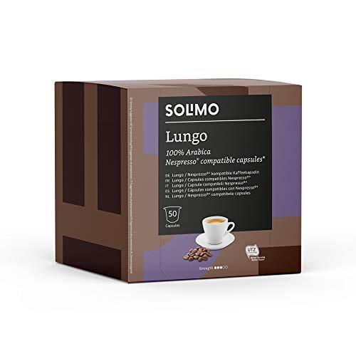 Lot de 100 Capsules de Café Solimo Lungo compatibles Nespresso - 2 x 50