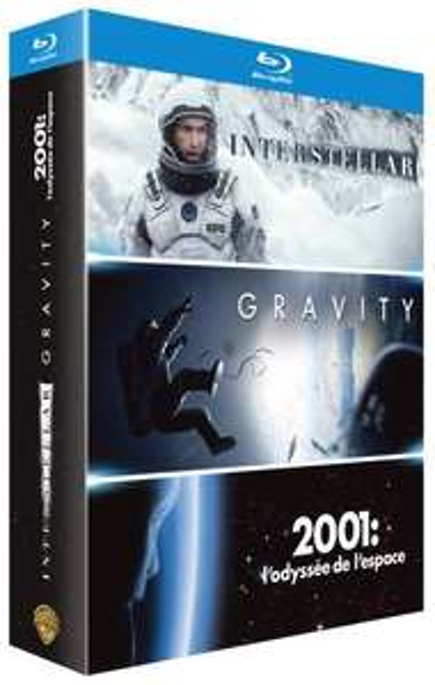 Coffret Blu Ray Interstellar + Gravity + 2001 L'Odyssée de l'espace