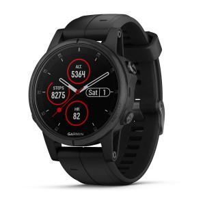 Montre GPS Garmin Fenix 5S Plus Black Sapphire - Noir (chullanka.com)
