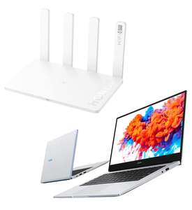 PC Portable Honor MagicBook 14/15 (Ryzen 5 3500U, RAM 8 Go, SSD 256 Go) + Honor Router 3 (Wi-Fi 6 Plus, 3000 Mbps, RAM 128 Mo, ROM 128 Mo)