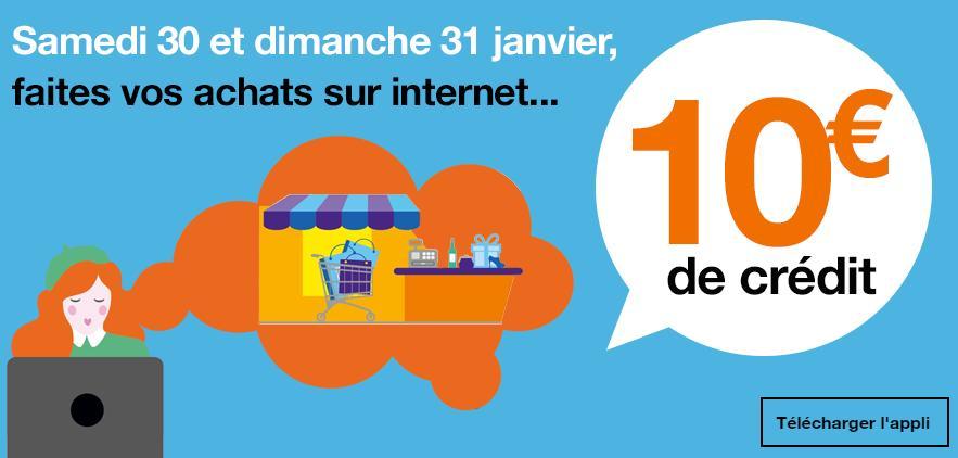 [Clients Orange et Sosh] 10€ offerts dès 30€ d'achat en payant en ligne avec l'application