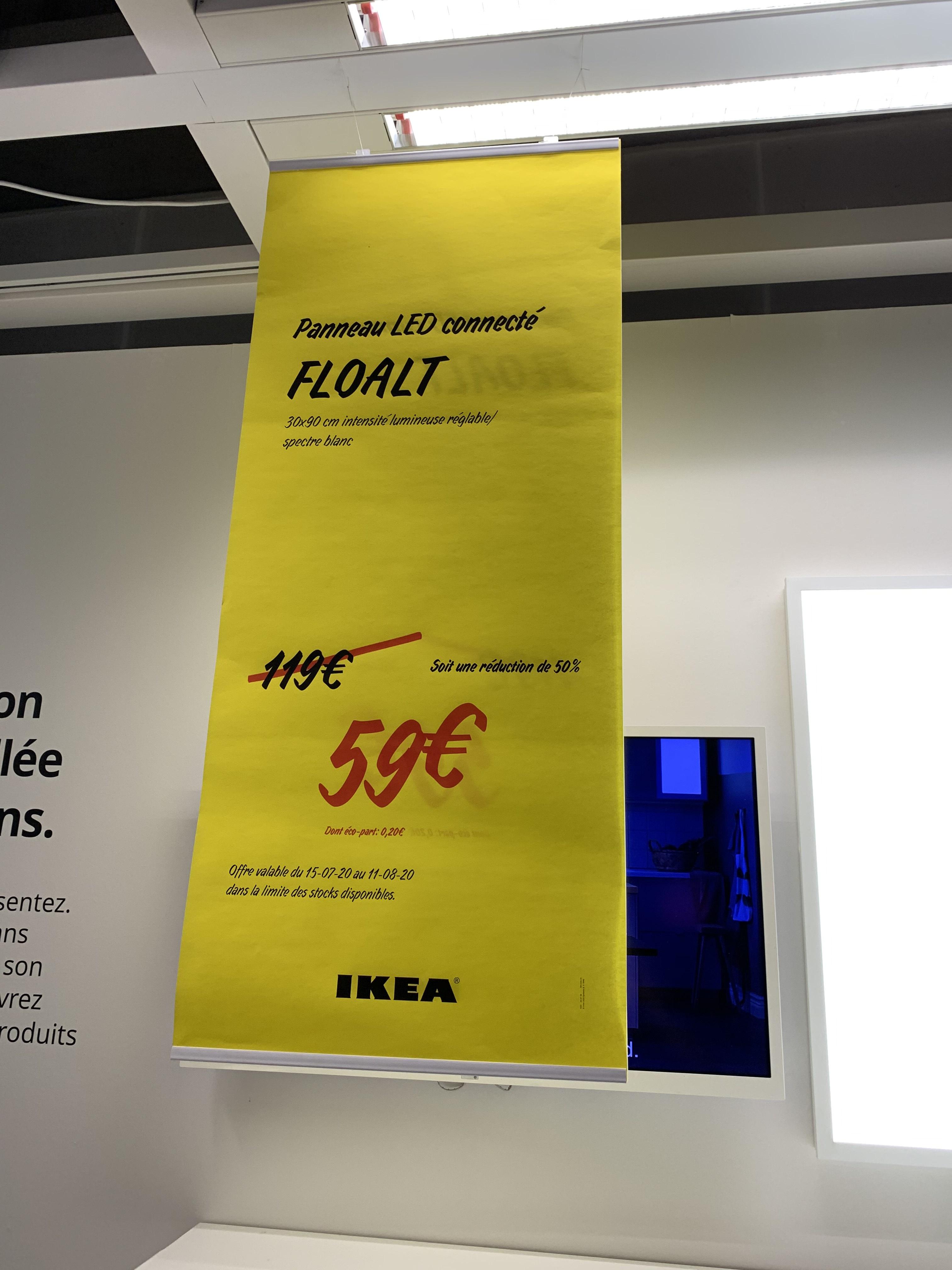 Panneau éclairage LED Floalt (30x90 cm) - Clermont Ferrand (63)