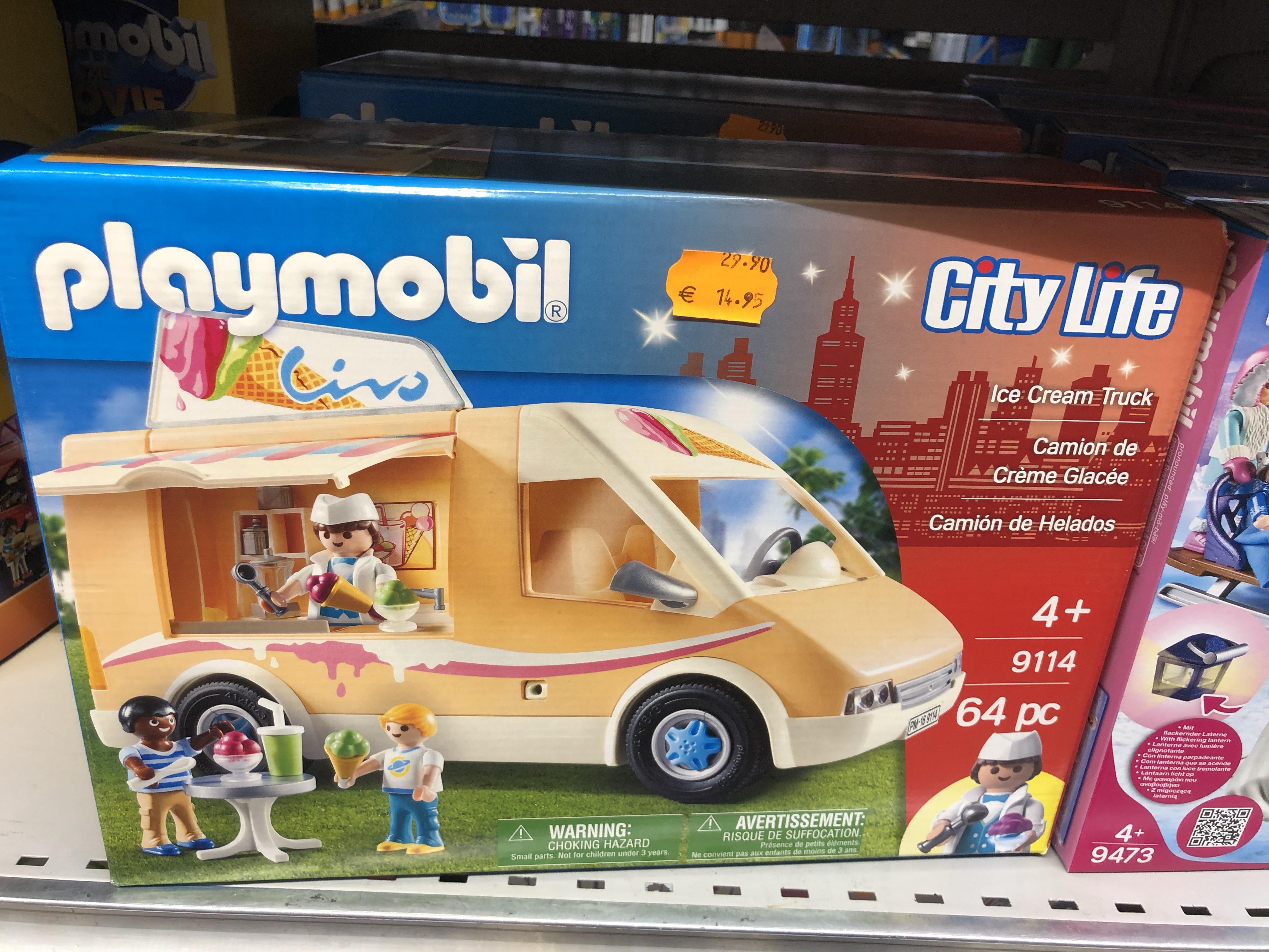 Sélection de jouets Playmobil en promotion - Ex : Jeu de construction Camion de crème glacée Playmobil City Life (9114) - Villejuif (94)