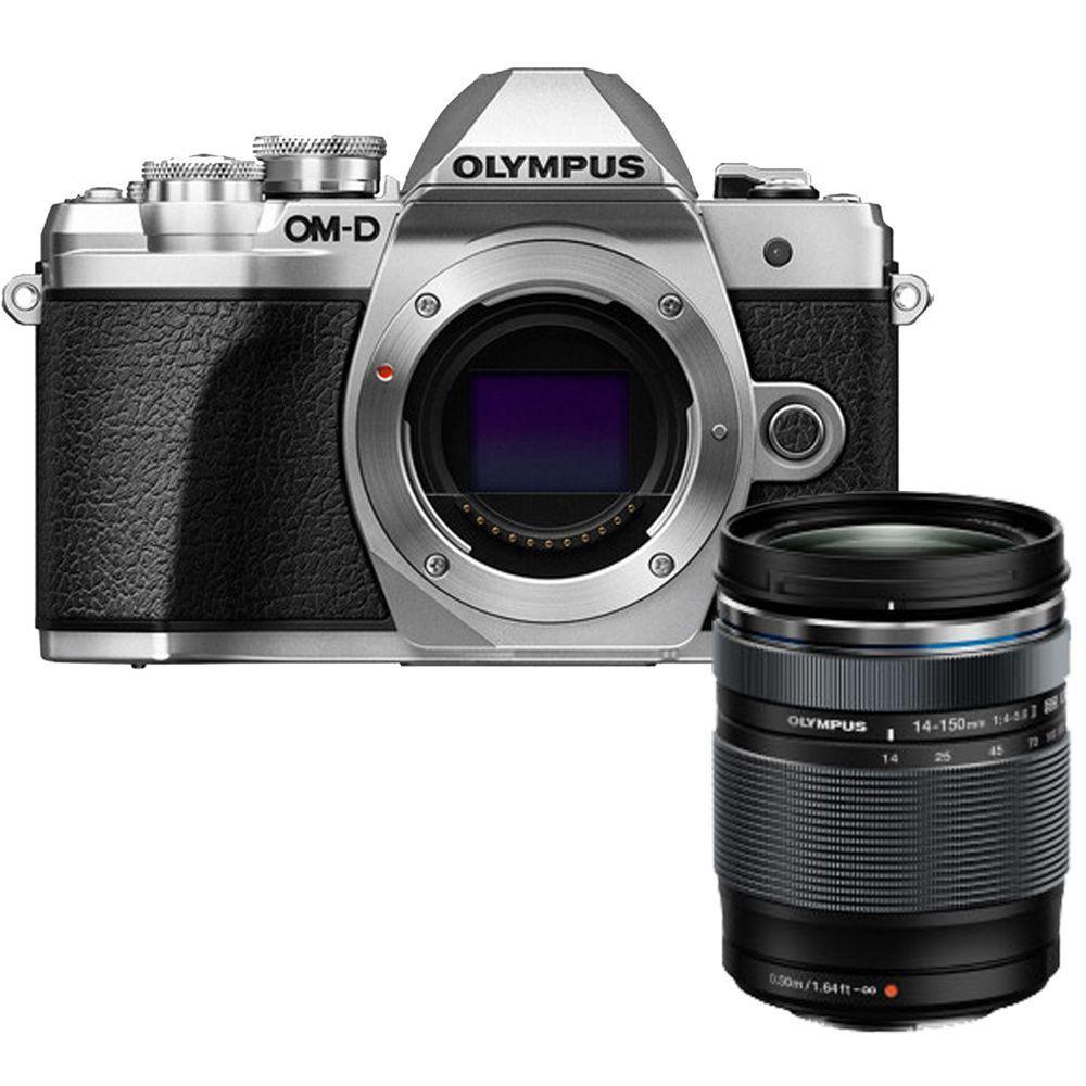 Appareil Photo Hybride Olympus E‑M10 Mark III (Argent ou Noir) + Objectif M.Zuiko Digital ED 14-150mm f/4-5.6 II