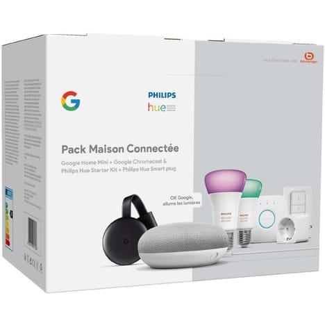 Sélection de produits en promotion - Ex : Pack Hue : Google Home Mini + Chromecast 3 + Pont + Dimmer Switch + 2 Ampoules W&C E27 - Alès (30)