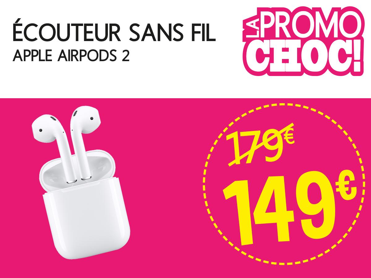 Écouteur sans fil Apple Airpods 2 - Mios (33)