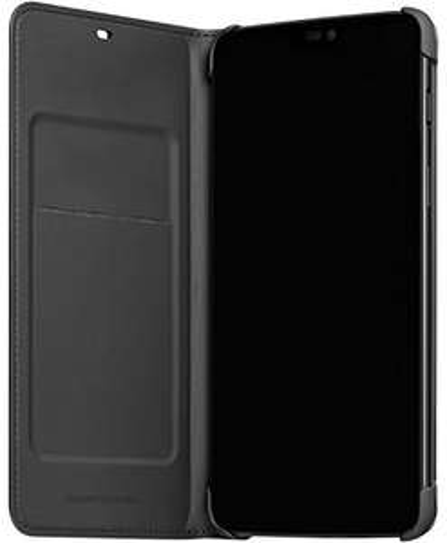 Coque de protection OnePlus 6 Flip Cover - en cuir, noir