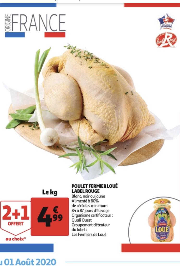 Lot de 3 Poulets Fermiers Loué (Origine France) - Variétés au choix