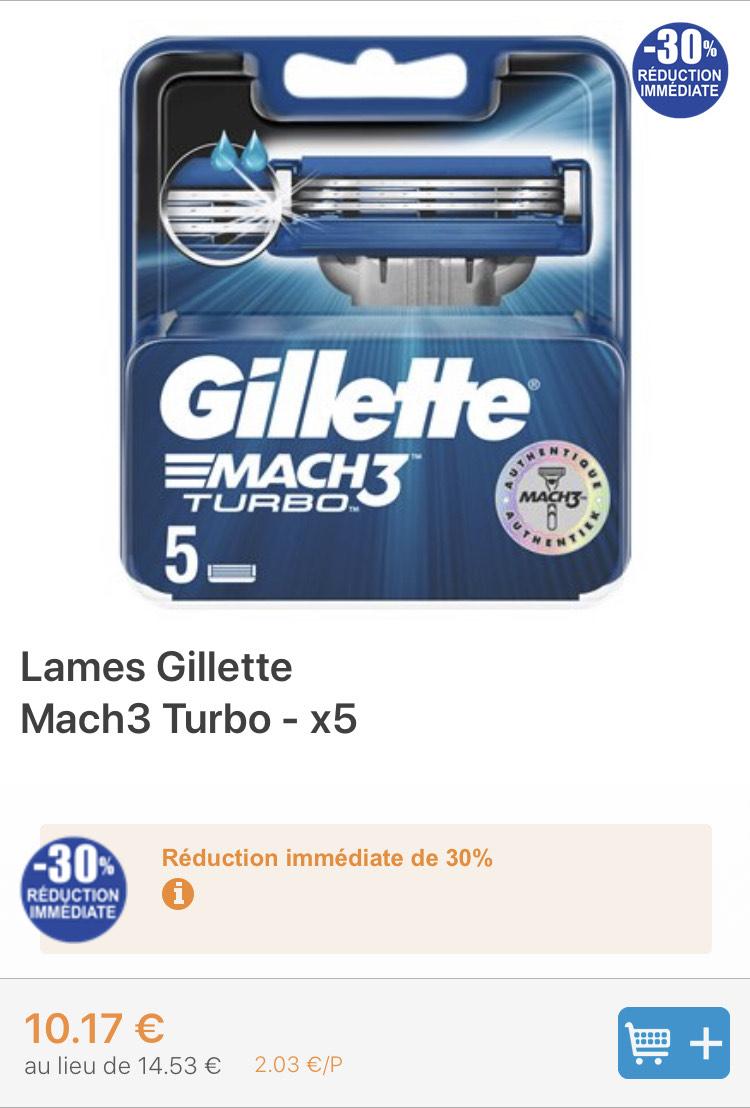 Lames Gillette Mach 3 Turbo - Mareuil-lès-Meaux (77)