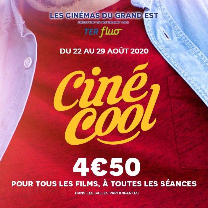 Place de cinéma pour toutes les séances Ciné Cool - Grand Est