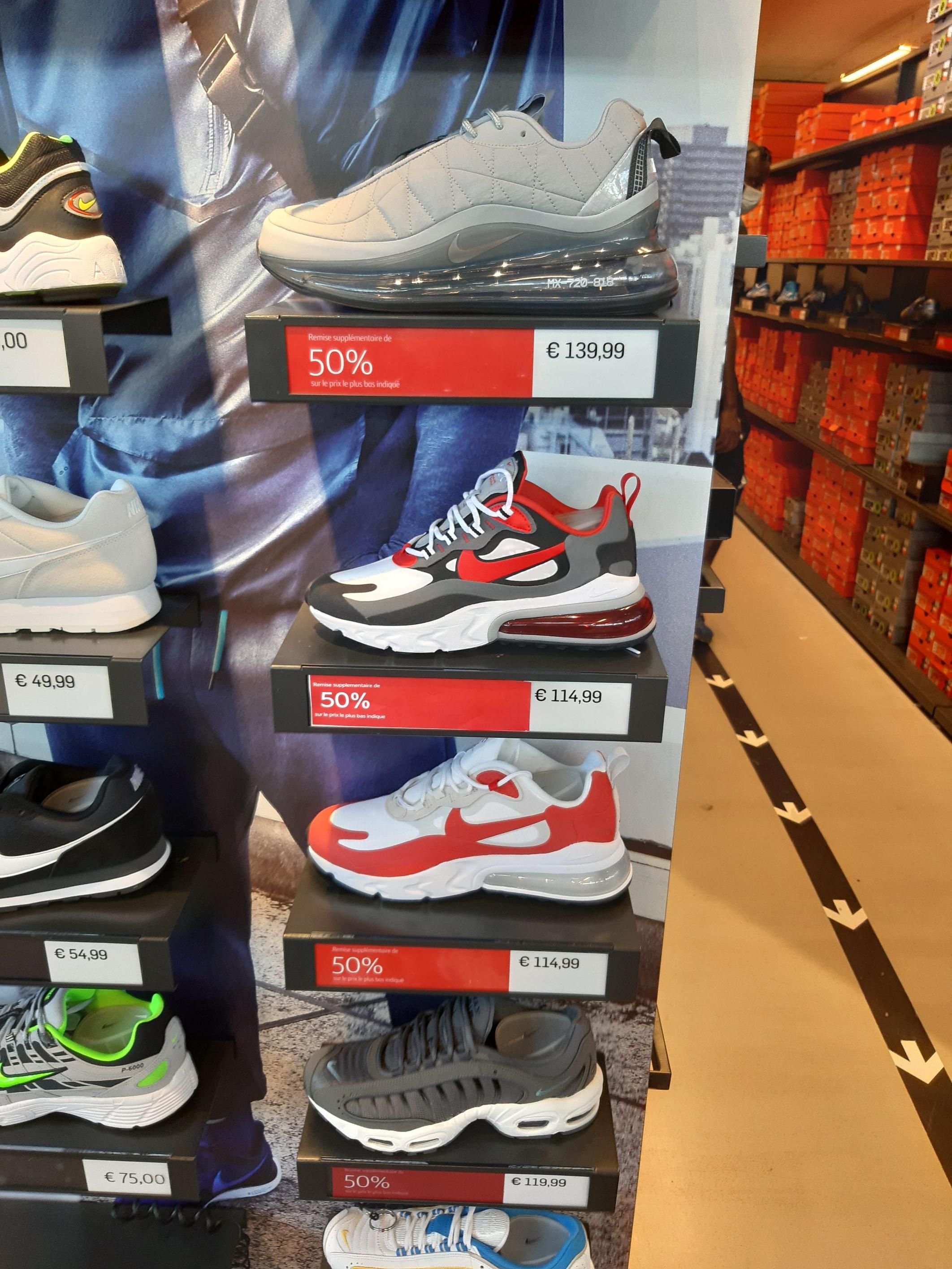 Sélection de abskets Nike en promotion - Ex: 270 React - Saint Maximin (60)